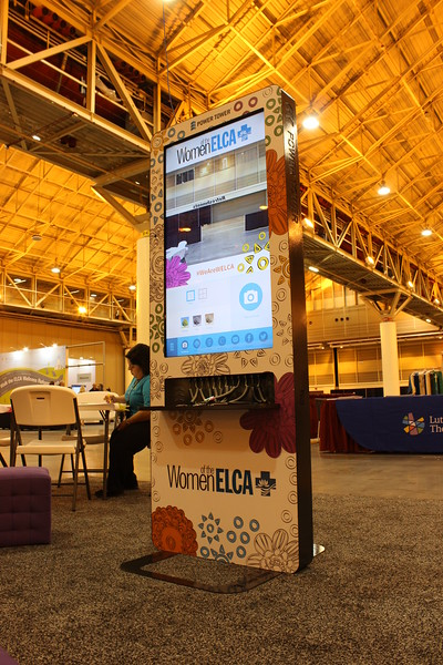 WELCA @ 2016 ELCA Churchwide Assembly and Grace Gathering<br /> <br /> In our space, the Power Tower displayed our websites. We even had visitors subscribe to Gather magazine on-line.