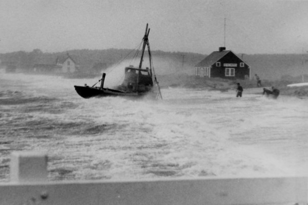 Hurricane - A mariner's worst nightmare, Mayo Beach, Wellfleet, MA , late 1950s