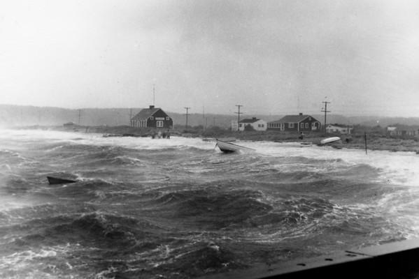Hurricane - Storm surge at Mayo Beach, Wellfleet, MA , late 1950s