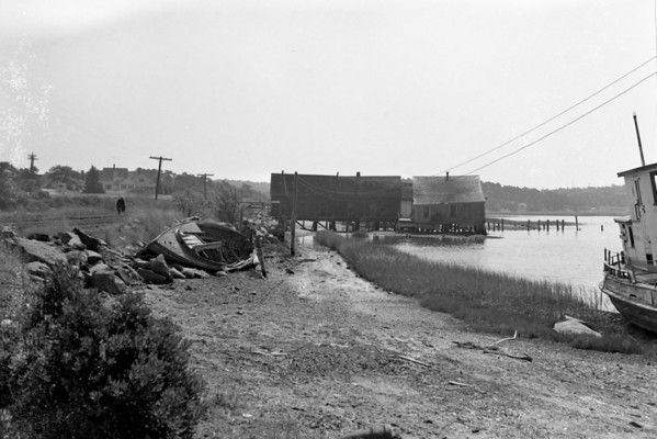 Oyster Houses and Wrecks - Wellfleet, MA , late 1950s