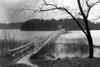 Hurricane - Uncle Tim's Bridge awash, Wellfleet, MA , late 1950s