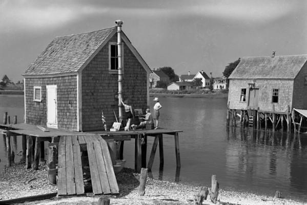 Oyster Houses, Wellfleet, MA , late 1950s