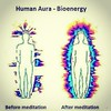 human aura before & after meditation