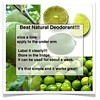best natural deodorant - sliced lime