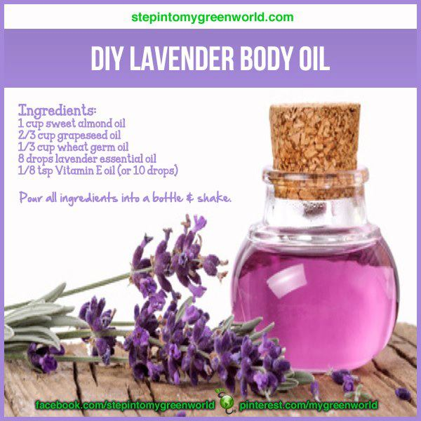 Making lavender body oil