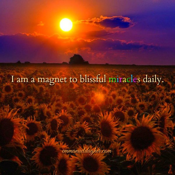 I am a magnet to blissful miracles daily