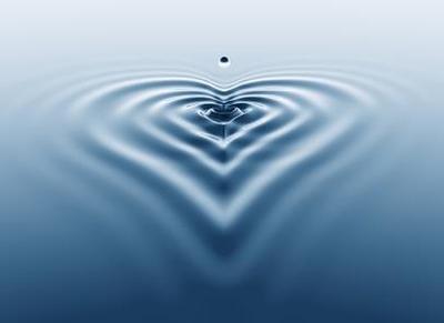 water drop heart