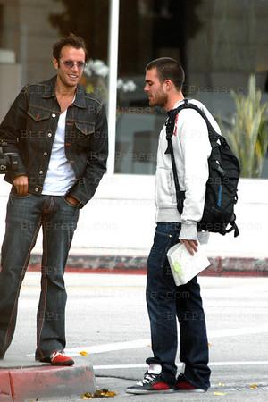 """Exclusif-- Jonathan de Secret Story fait une apparition au cote de Romain Chavent dans la serie Francaise West Hollywood """"made in Hollywood"""" imagine et produit par Fabrice Sopoglian."""