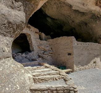 800-900 year old Mogollon Pueblo cliff dwellings