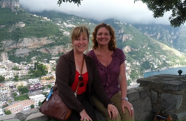 Janet and I above Positano