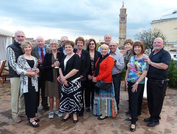 Italian Great Cities tour 28 April with Amalfi extension (Venice, Florence, San Gimignano, Cortona, Assisi, Rome) Guests: Sy and Ninette, Howard and Carol, Gina and Alisa, Howard and Sandy, Martha and Richard, James and Charlotte, Richard and Kay