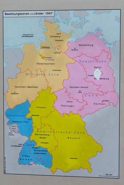 POLITICAL DIVISIONS OF GERMANY FOLLOWING WW II.