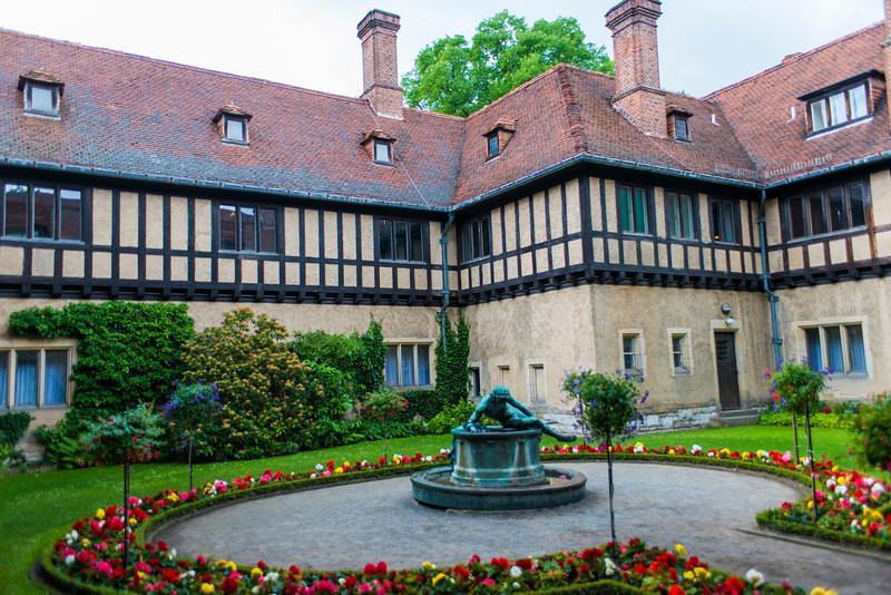 Schloss Cecilienhof courtyard.