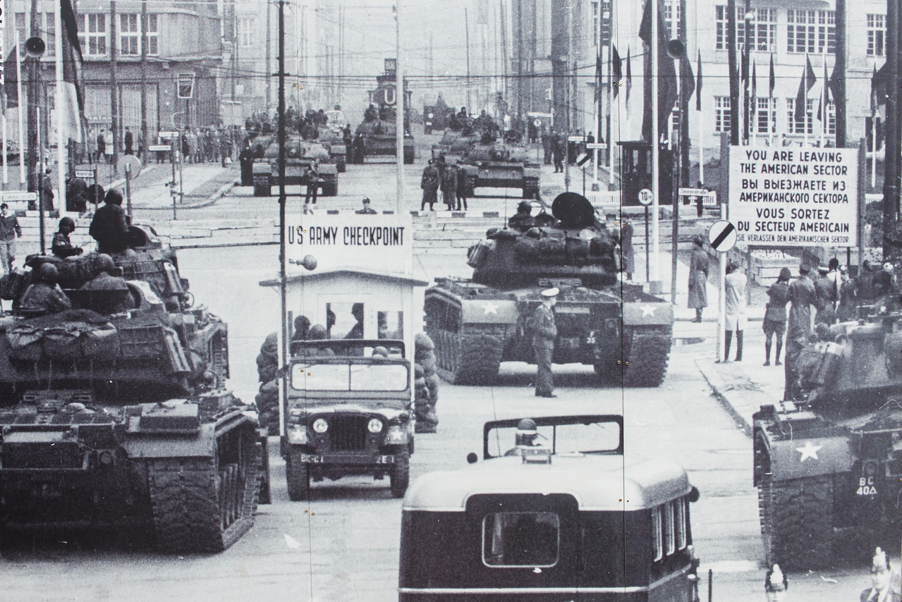 CHECKPOINT CHARLIE, BERLIN, 1947.