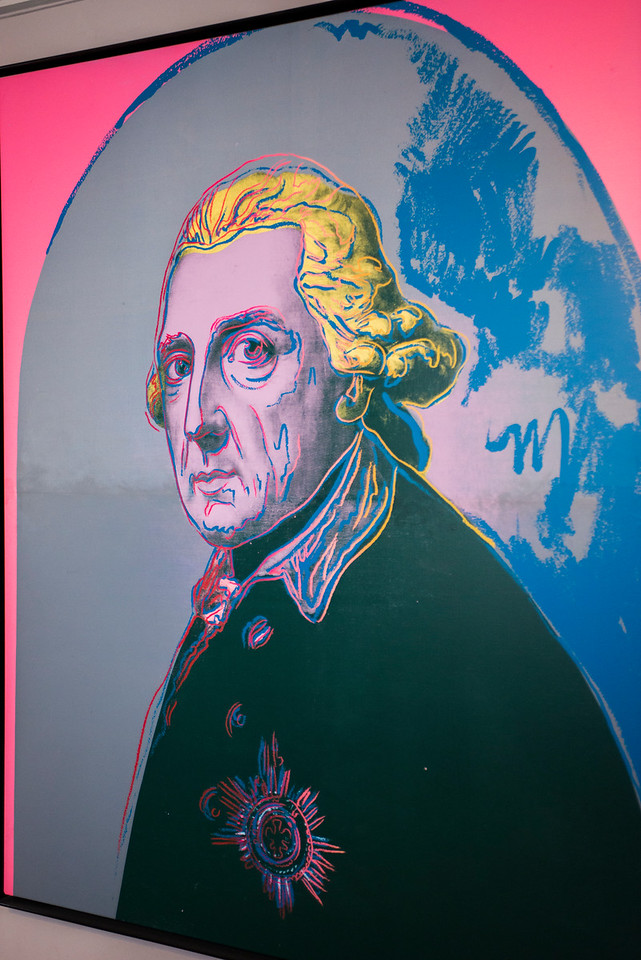 ANDY  WARHOL DEPICTION OF FREDERICK THE GREAT.