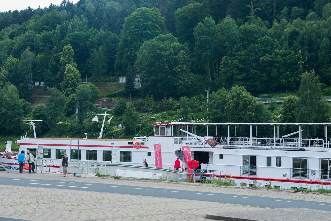 Docked in Bad Schandau, Germany.