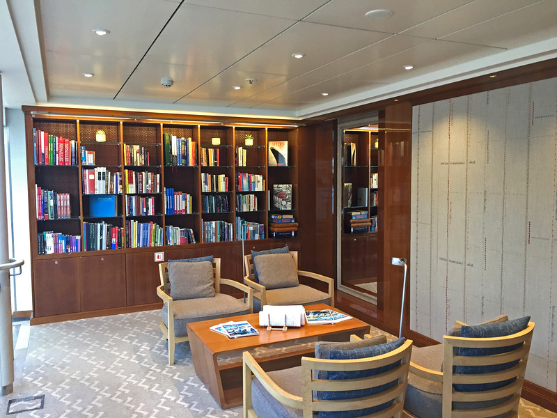The library on the upper deck (deck three).