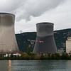 The Centrale Nucléaire de Cruas-Meyse just north of Montélimar in the early evening.