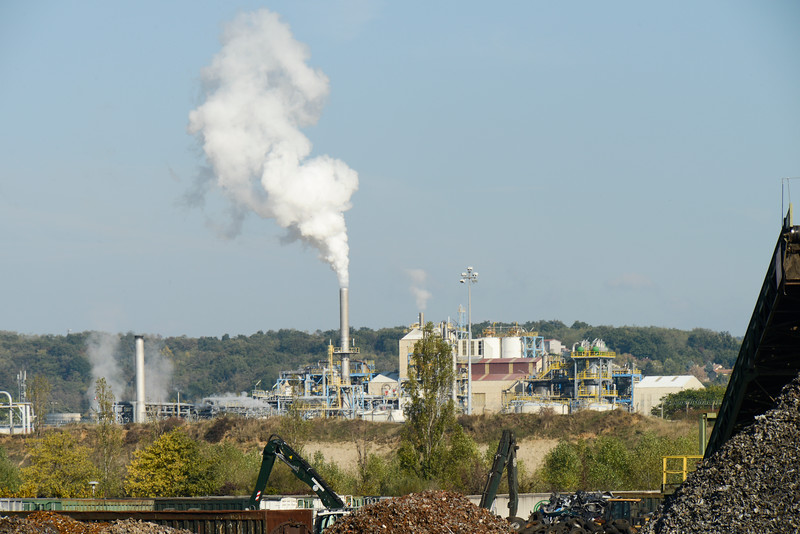 Industry along the Rhône.