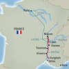 The route for Lyon & Provence.
