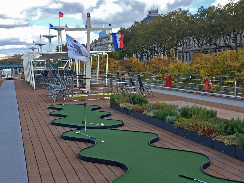 The sundeck offers a walking track, a putting green, covered or sunny seating and a natural herb garden.