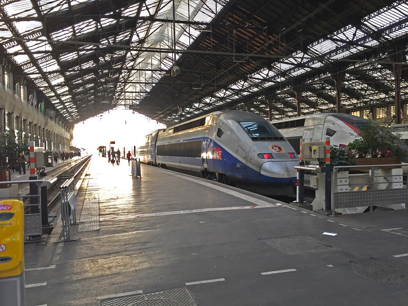 The bullet train can take you from Avignon directly to Charles de Gaulle airport in Paris.  It is a comfortable and hassle-free way to begin and/or end your cruise.