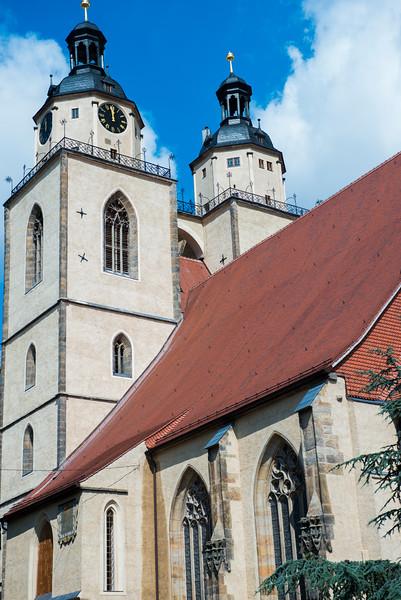 Stadtkirche in Wittenberg.