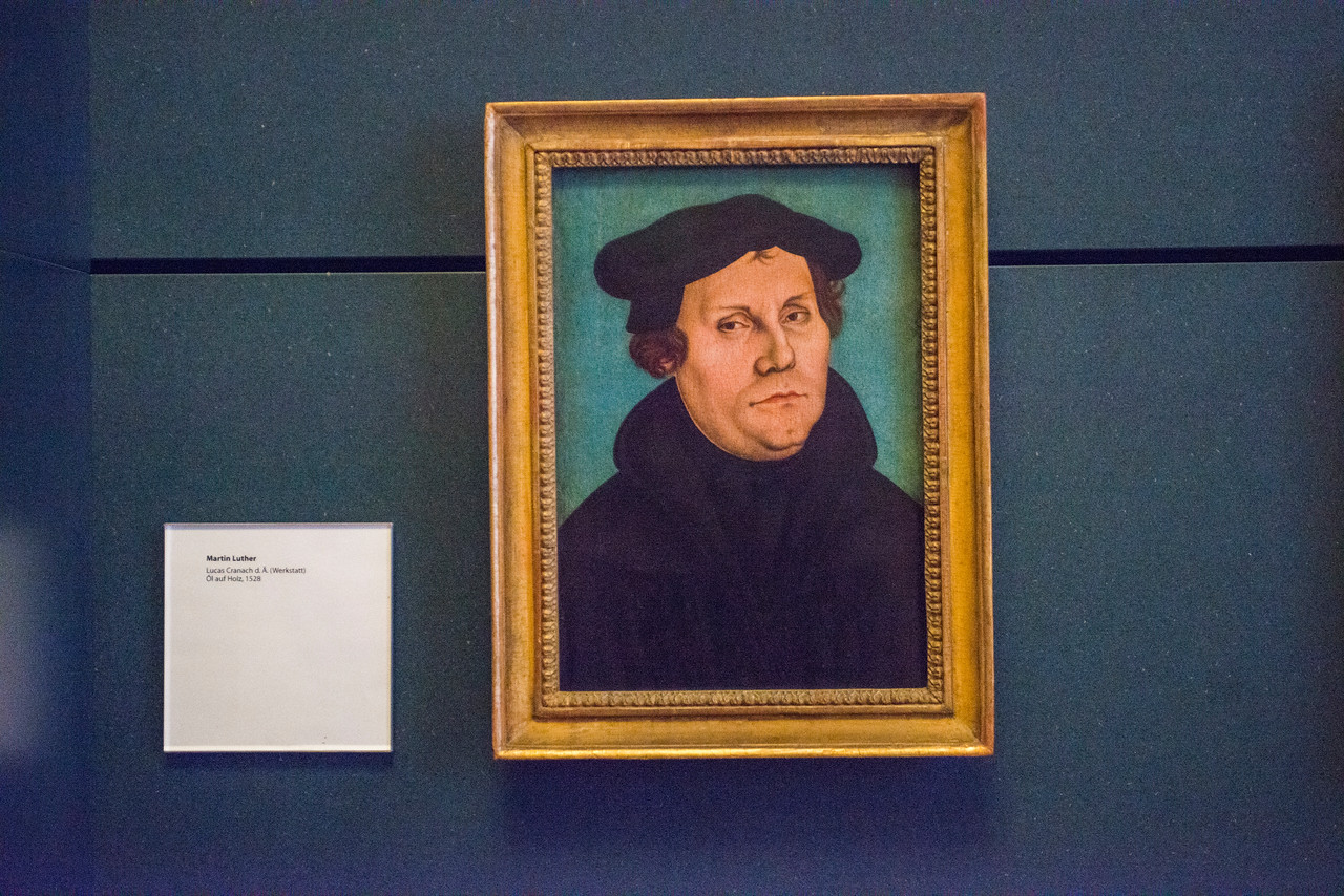 Portrait of Luther by Lucas Cranach, 1528.