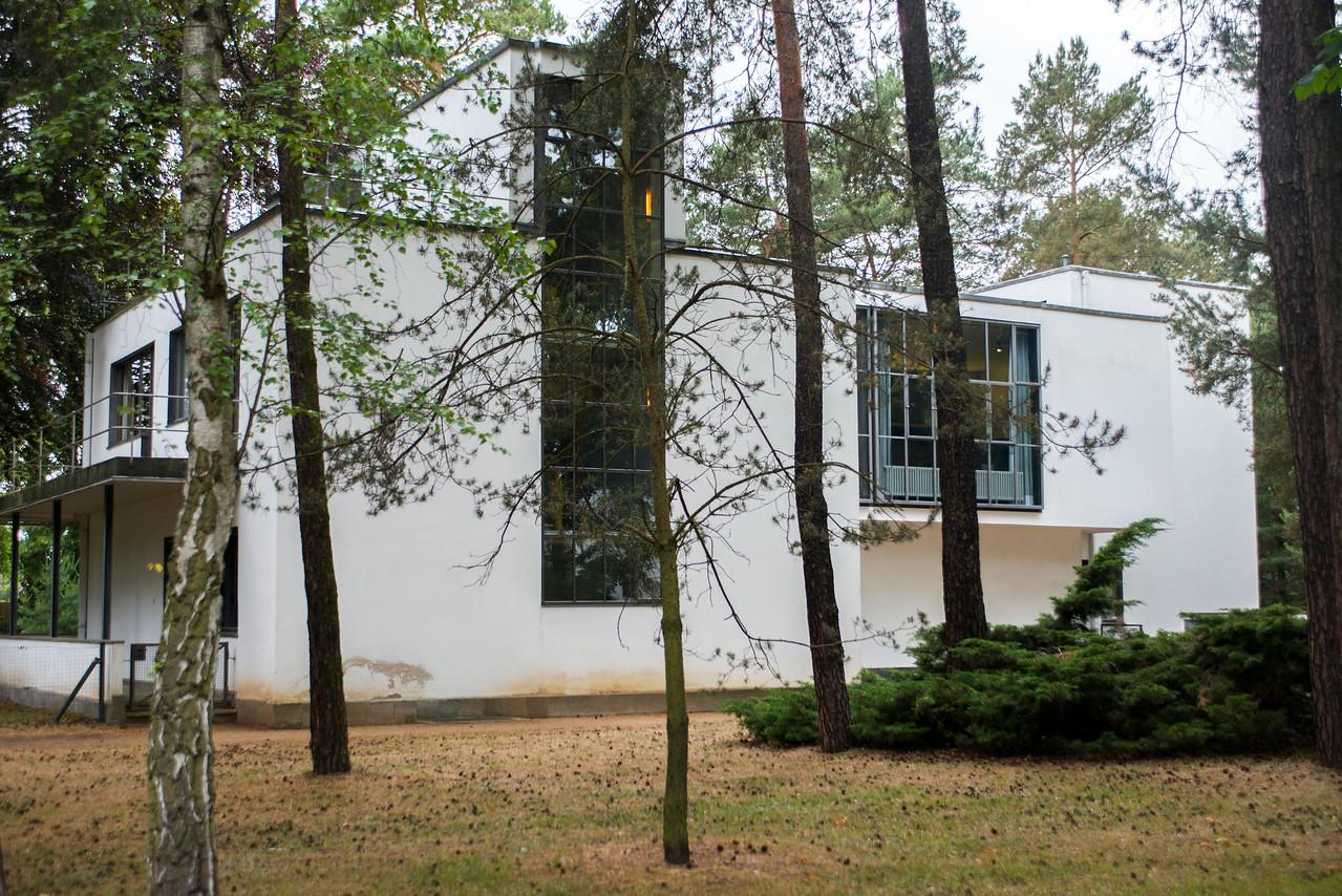Bauhaus style architecture in Dessau.