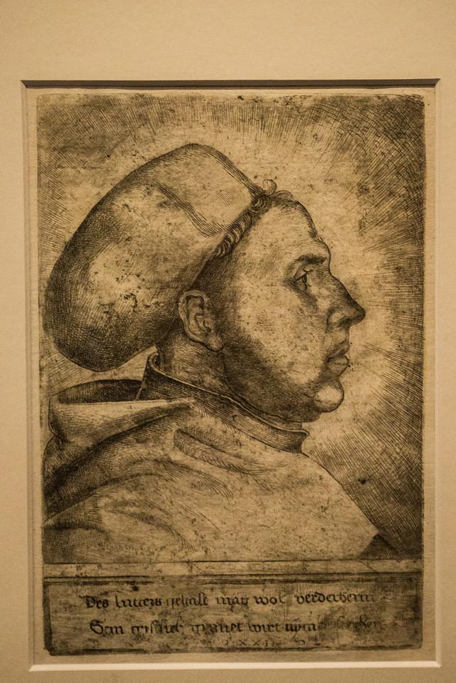 Luther portrait by Daniel Hopfer, 1523.