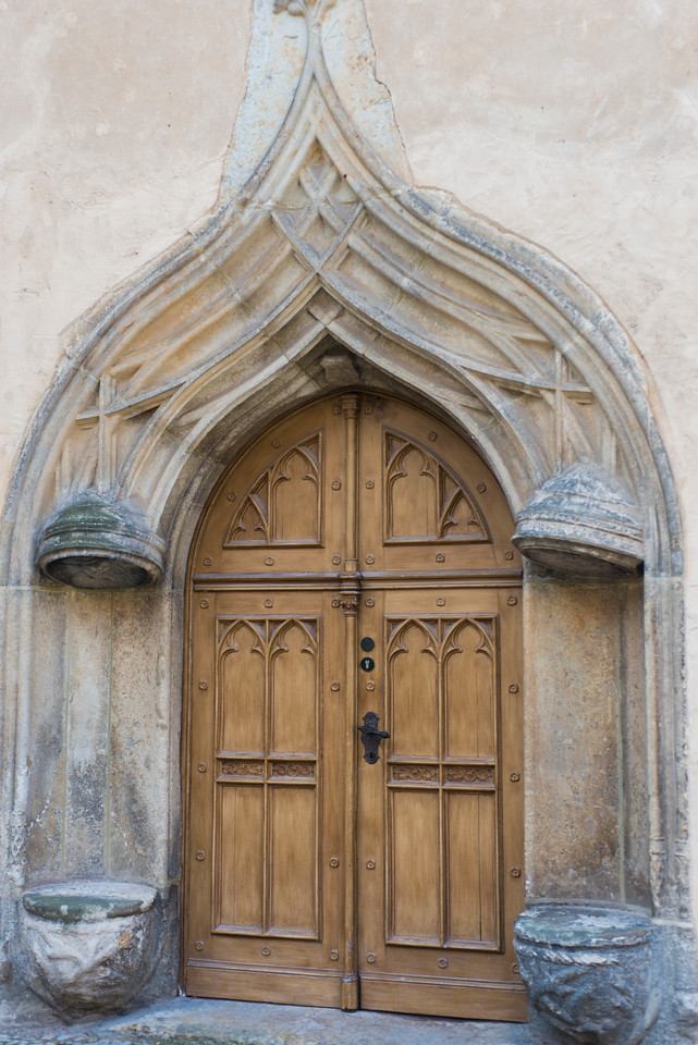 Lutherhaus door.  Martin Luther's residence in Wittenberg.