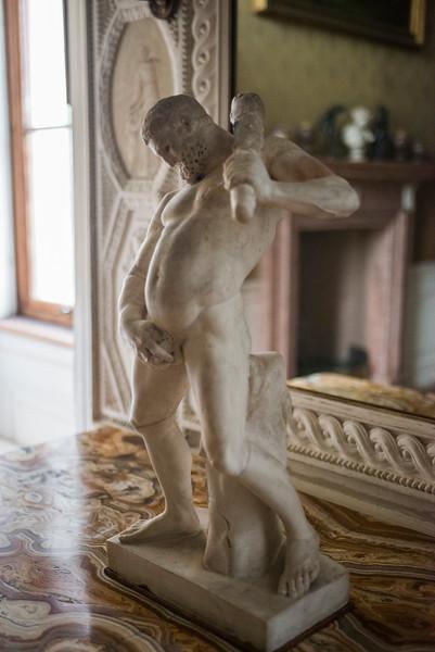 Wörlitz Palace statue detail.