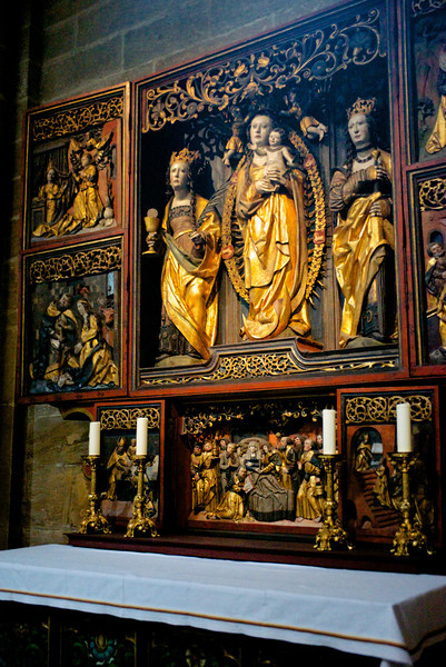 In Bamberg Cathedral, a shrine.