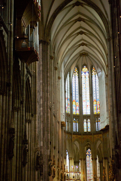 The soaring Gothic nave of The Dom.