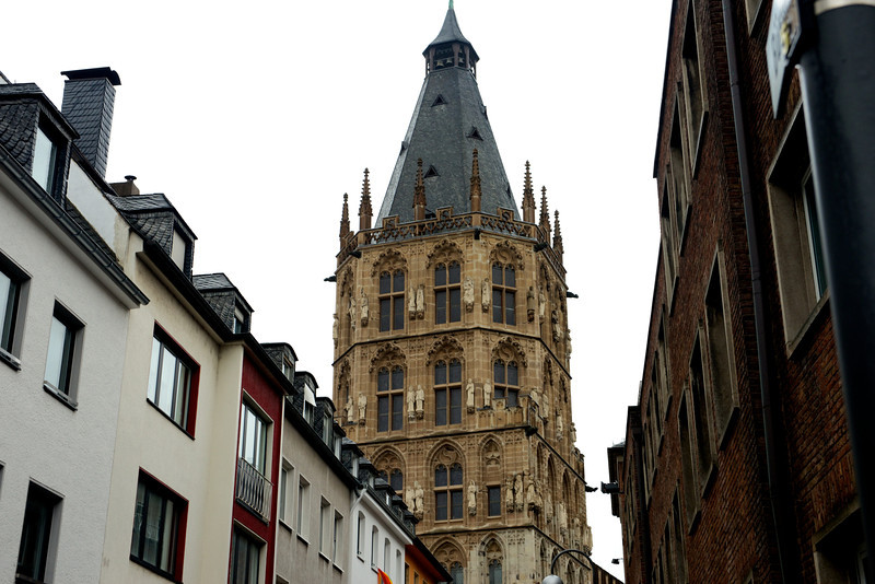The Rathaus Tower in Cologne.