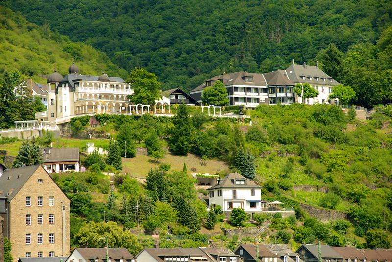 The hills above the Rhine and Kaub, Germany.   16-14-15