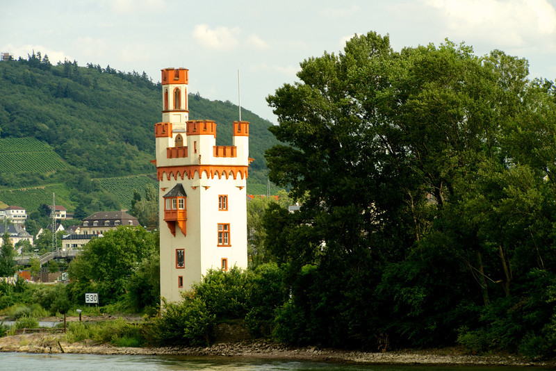 The Mouse Tower on the Rhine near Bingen.