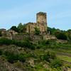 Gutenfels Castle near Kaub, Germany.  Sits above the Pfalzgrafenstein Island Fortress.