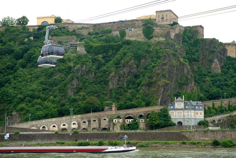 Ehrenbreitstein Fortress above Koblenz.