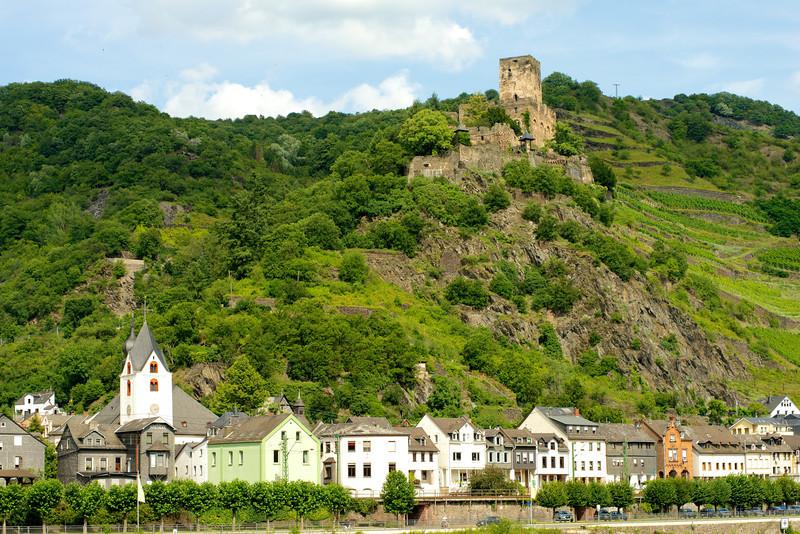 Gutenfels Castle near Kaub, Germany.