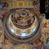 The cupola and frescoed ceiling above the Stifskirche at the Melk Abbey.