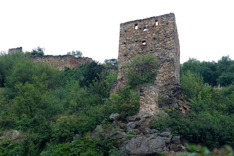 This tower and the wall further up the hill were part of the original town wall built in the 13th and 14th centuries.