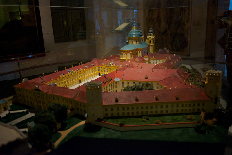 A model of the abbey.
