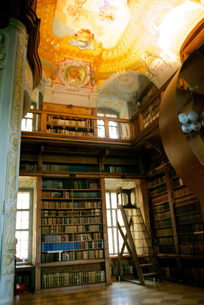 The library which features over 100,000 historical volumes.