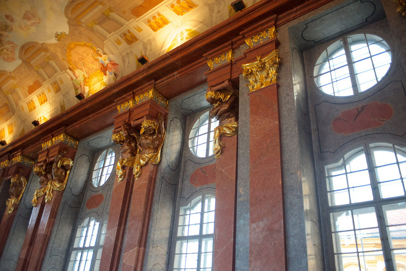 The Marble Hall at the Melk Abbey was formerly used for receptions and celebrations.
