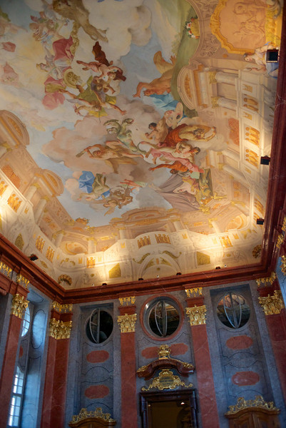 The ceiling fresco of the Marble Hall at the Melk Abbey.