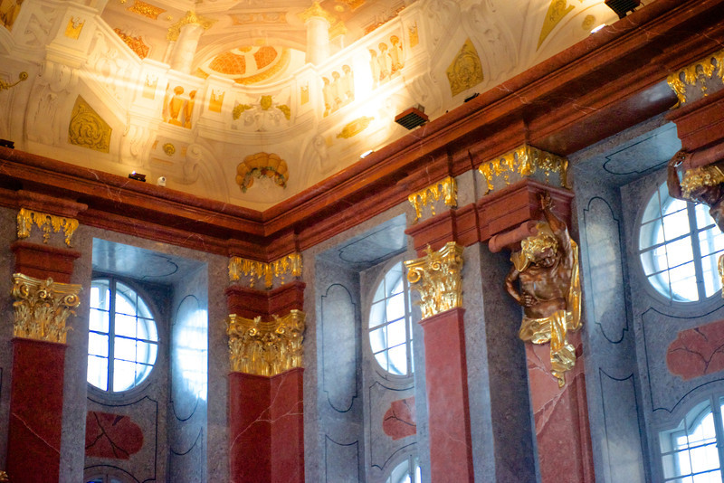 The Marble Hall at the Melk Abbey.