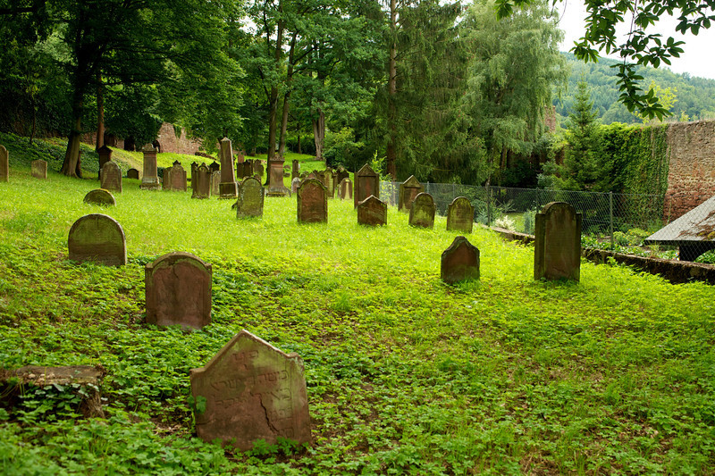 The Jewish Cemetery just outside the Miltenberg wall.