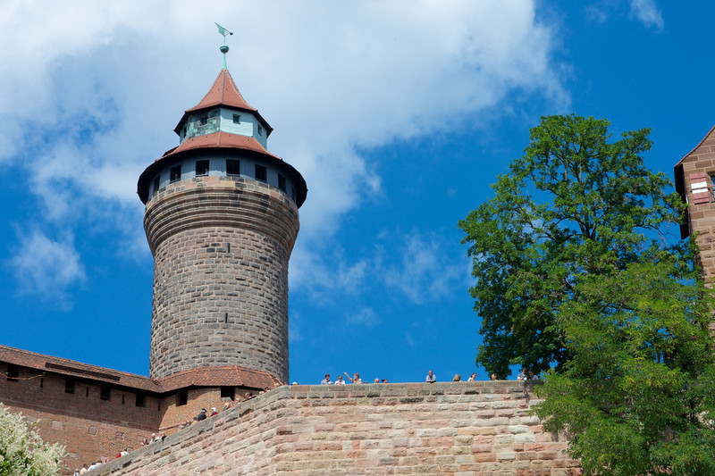 Sinwell Tower of the Nuremberg Castle.