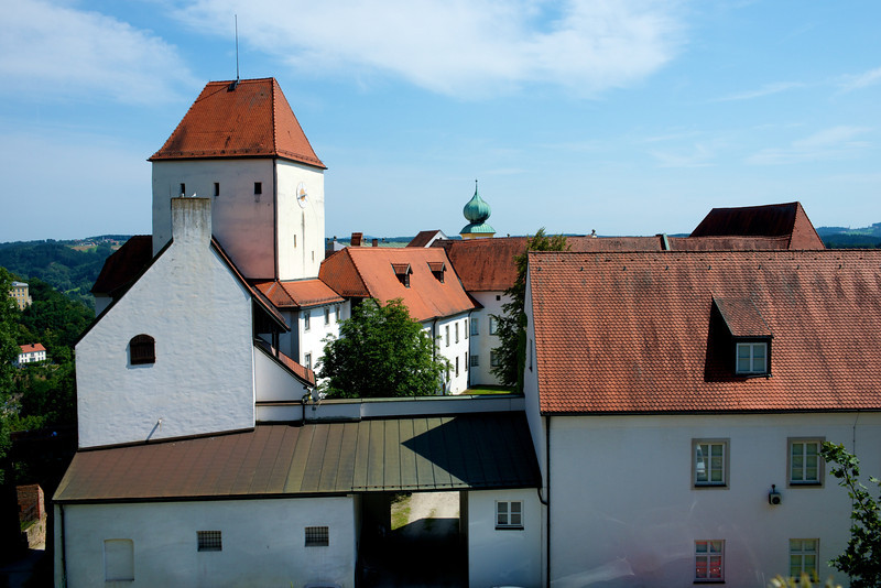 Part of the Veste Oberhaus a complex above the east bank of the Inn River which today houses a museum and a school.
